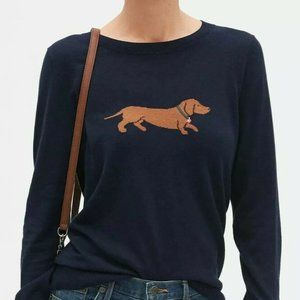Banana Republic Weiner Dog Pullover Sweater XS